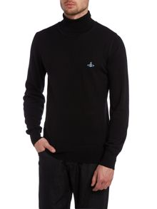 Roll neck logo jumper