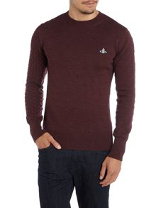 Crew neck cable detail jumper