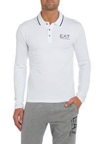 Long sleeve train core id polo shirt