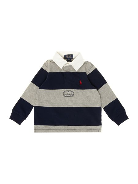 Polo Ralph Lauren Boys stripe rugby shirt with number 3 on the back