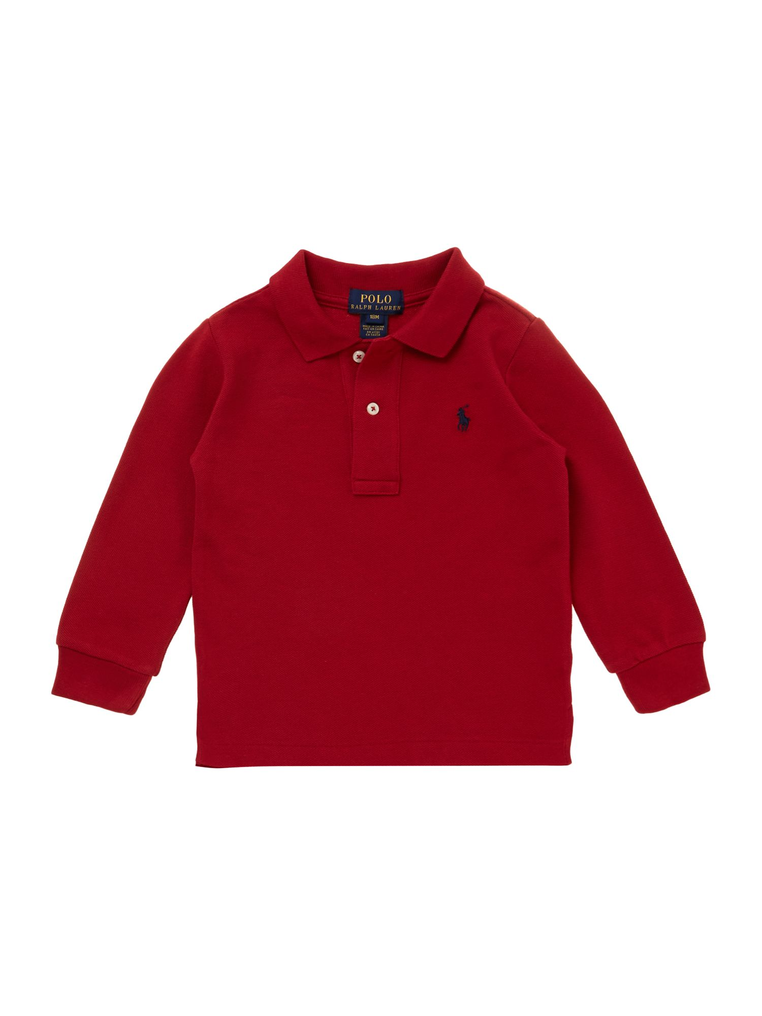 Boys basic polo shirt with small pony