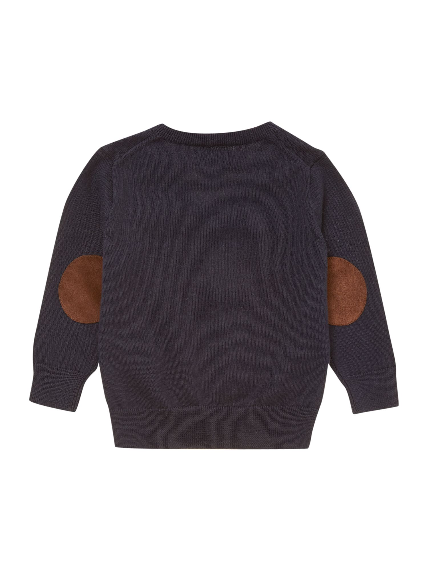 Boys jumper with suede elbow patches