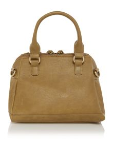 Maggie grey patent embossed bowling bag