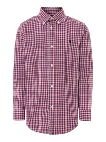 Boys mini check shirt with small pony