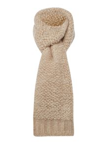 Loop stitch knitted scarf