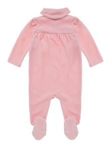 Baby girls velour wrap all-in-one