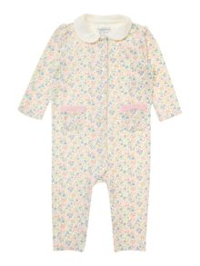 Baby girls floral all-in-one