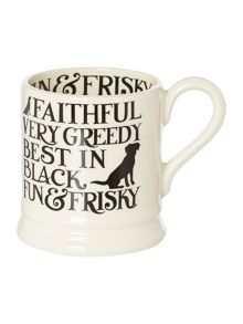 Black Toast Labrador 1/2 Pint Mug