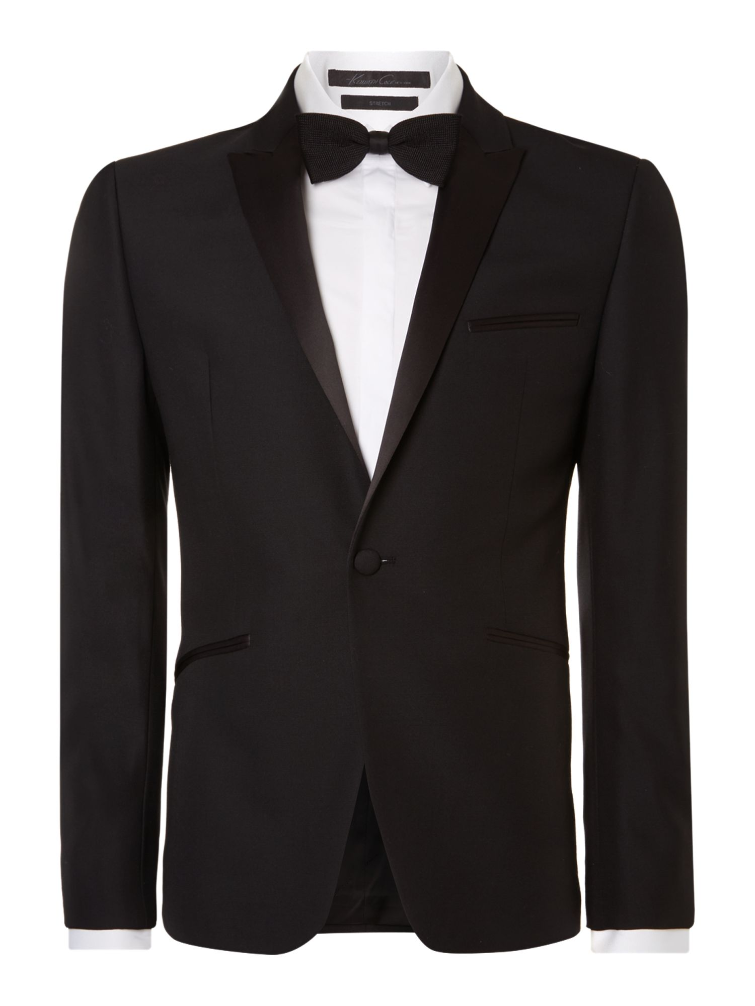 1920s Mens Evening Wear Step By Step Mens Kenneth Cole Dusk tuxedo jacket with satin peak lapel £138.00 AT vintagedancer.com