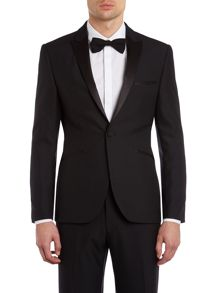 Dusk tuxedo jacket with satin peak lapel