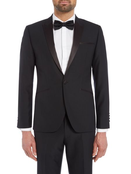 Kenneth Cole Slim Fit Dusk tuxedo jacket with satin peak lapel