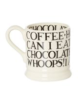 Emma Bridgewater Black Toast All Over Writing 1/2 Pint Mug