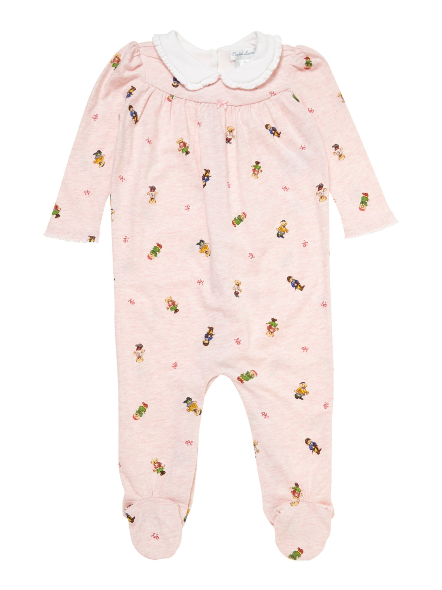 Babys teddy print all-in-one
