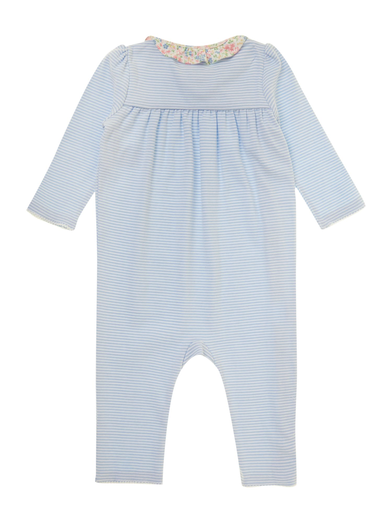 Baby girls striped wrap all-in-one