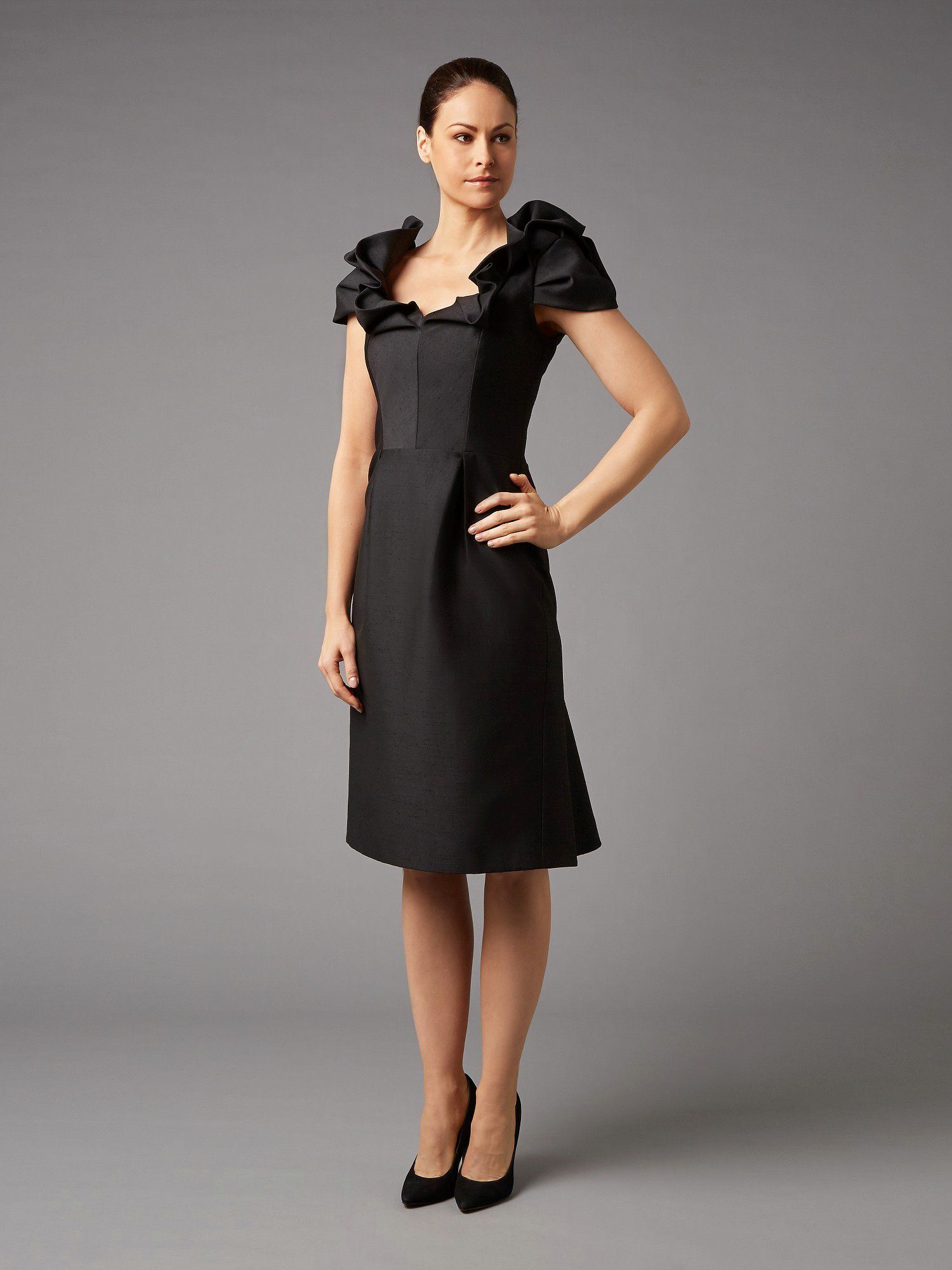 Lorcan Mullany Black Shantung Dress