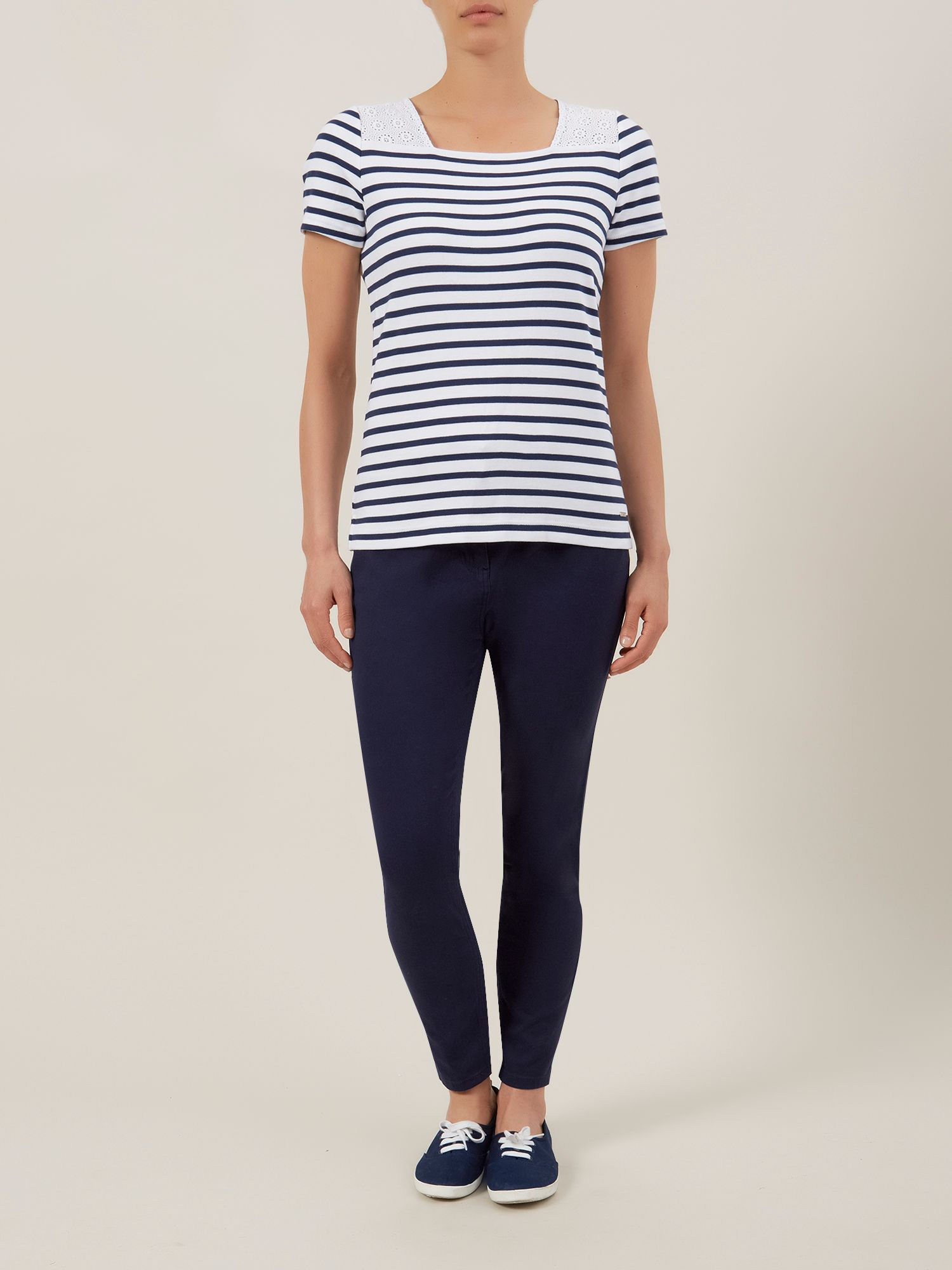 Button back stripe top