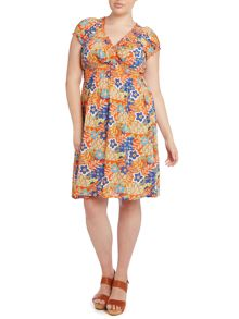 Paisley patchwork fit and flare dress