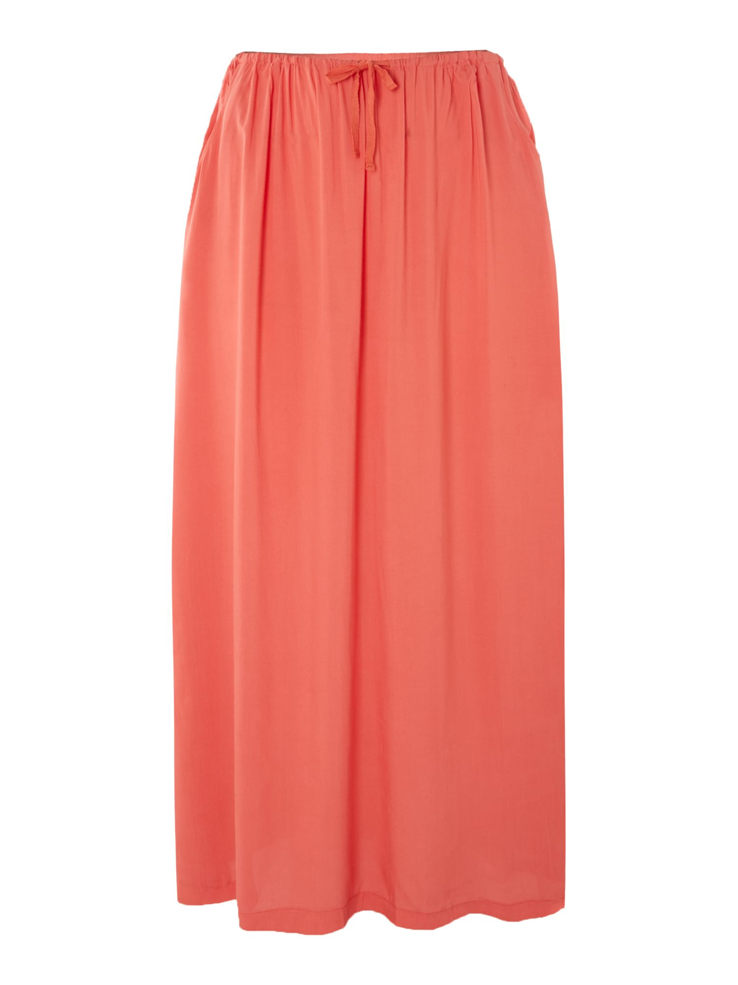 Chiffon maxi skirt with side tie
