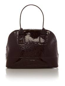 Maggie burgundy patent emboss dome bag