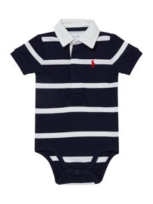 Baby boys striped rugby body suit