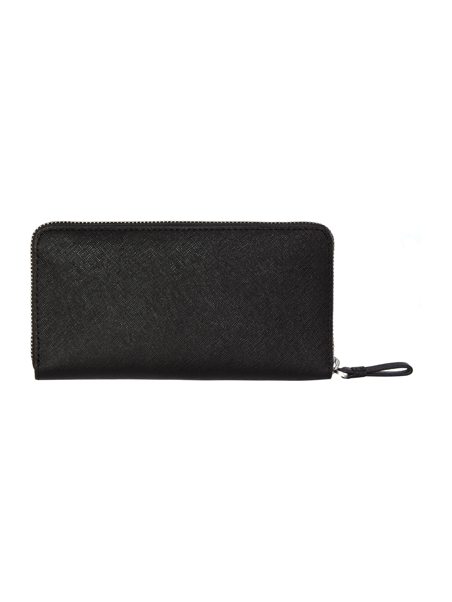 Sofie black saffiano zip around purse