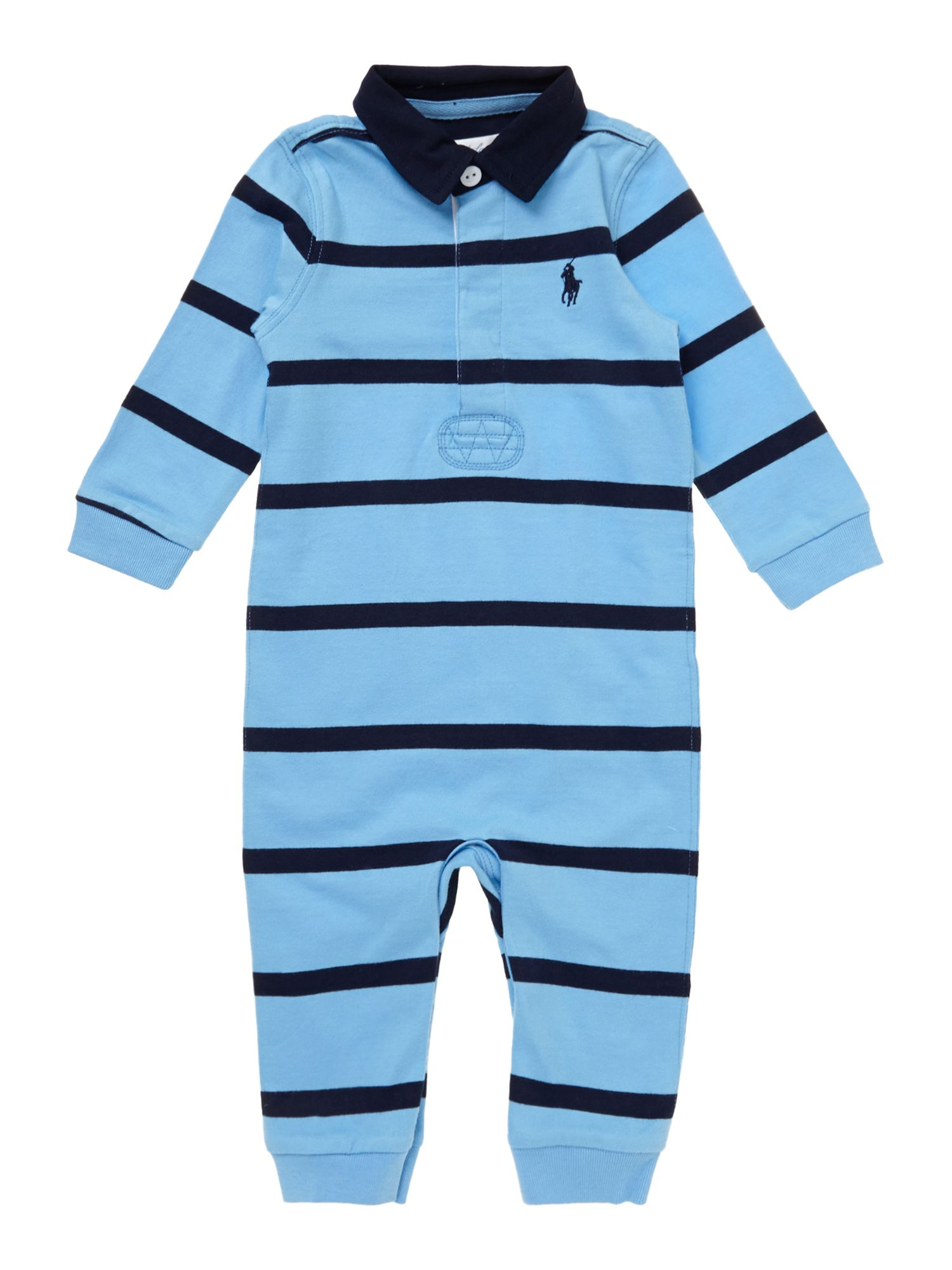 Baby boys striped rugby all in one