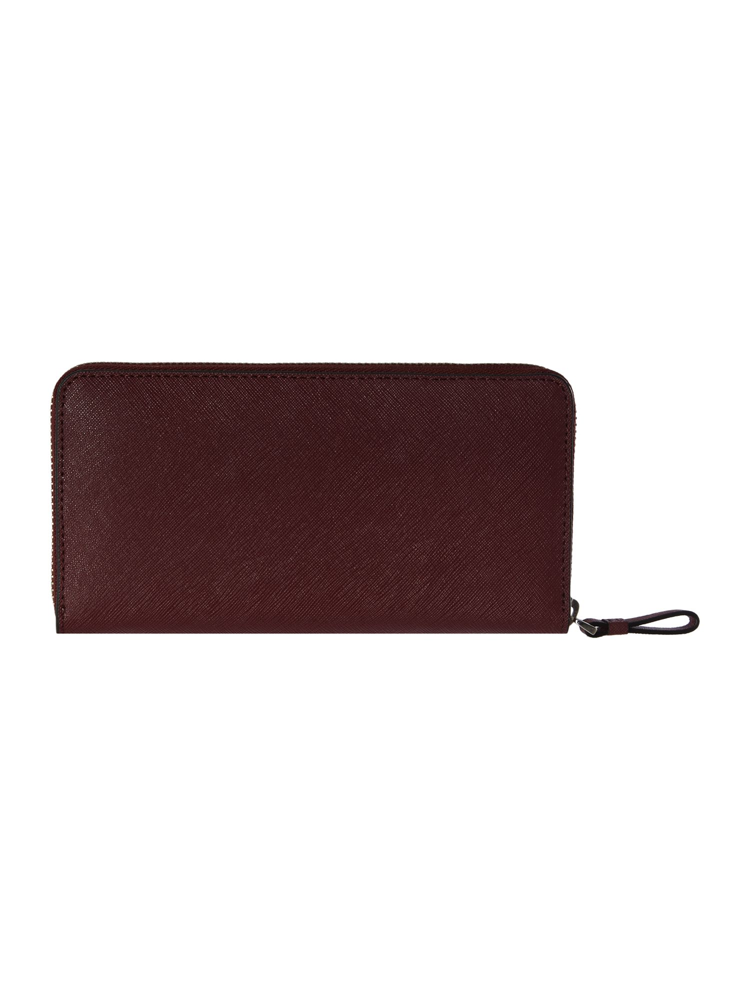 Sofie burgundy saffiano zip around purse