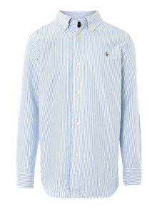 Boys striped oxford shirt with small pony
