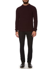Absinthe Textured Crew Neck Knit
