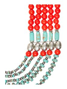 The mary multi row necklace