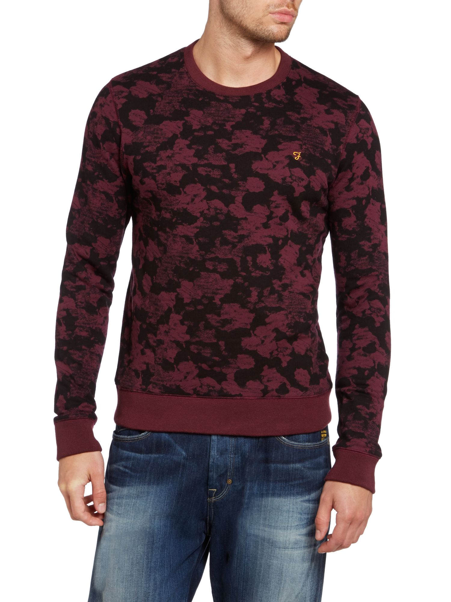 Casby paint print crew neck sweatshirt