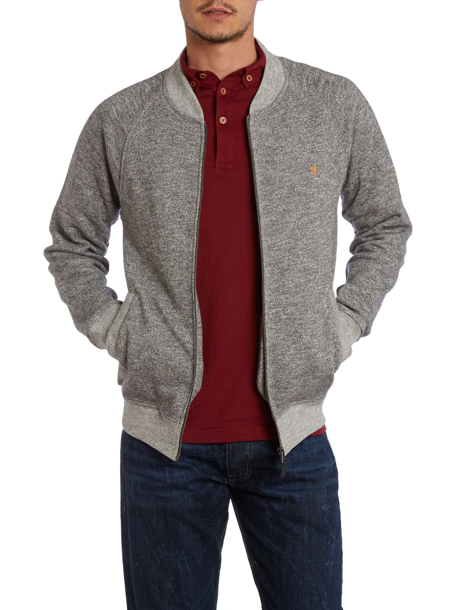Bardell two pocket zip up bomber sweatshirt
