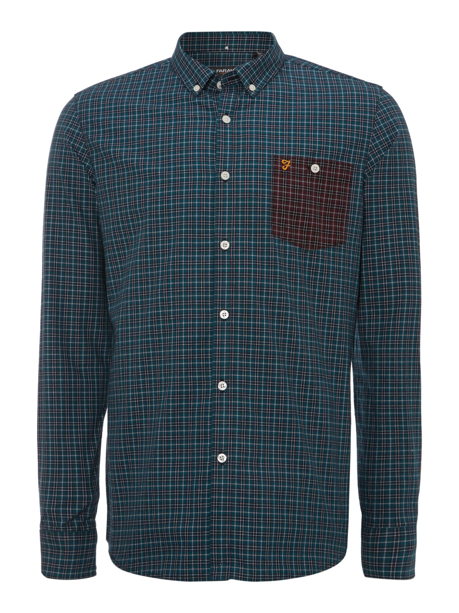 Colson xmas check long sleeve shirt