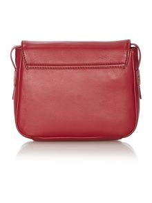 Cranleigh red flapover crossbody bag