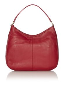 Datchet red pocket hobo bag