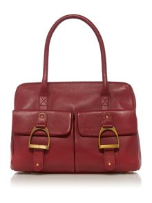Flitton red tote bag