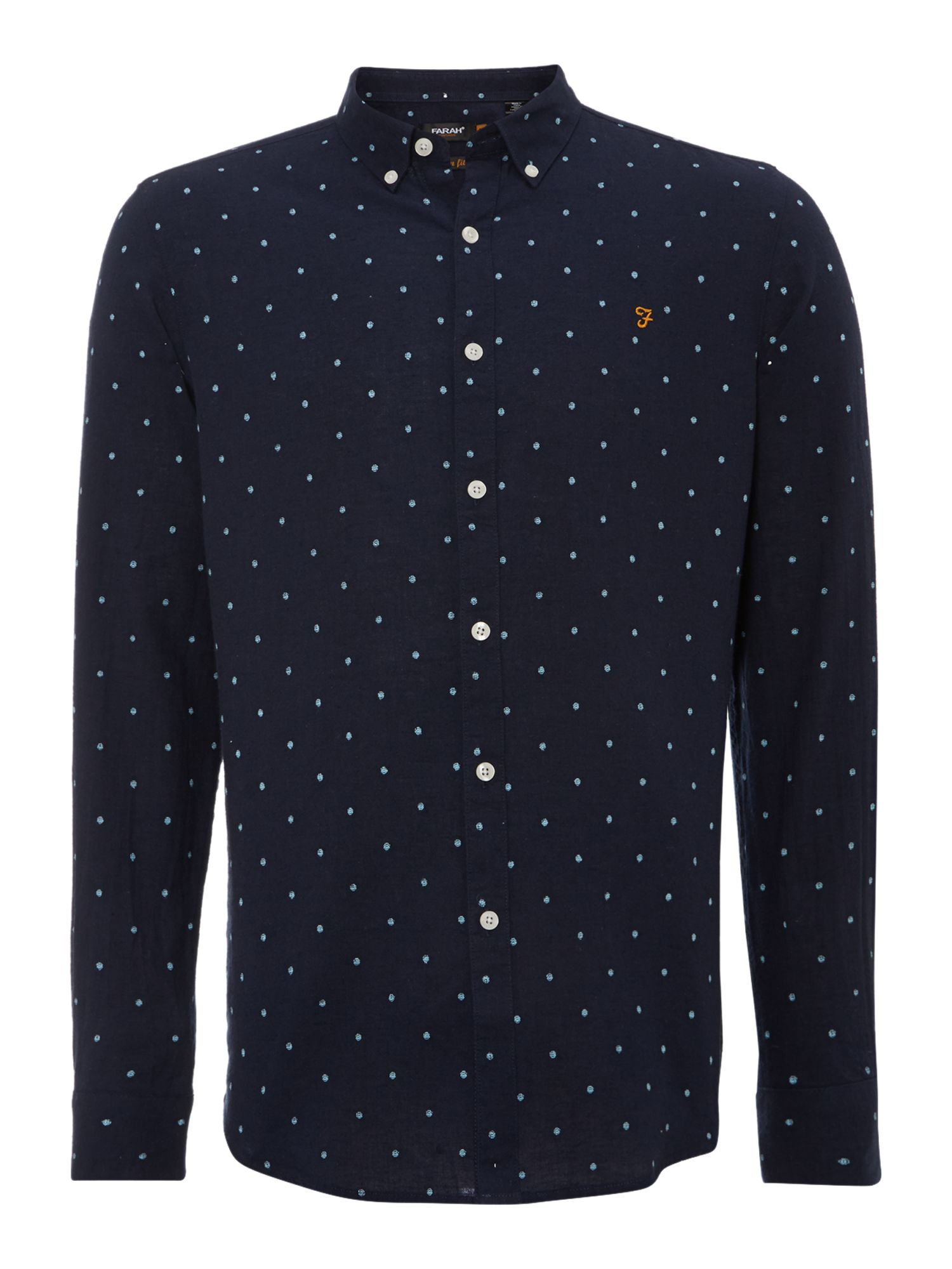 Culham dot print long sleeve print shirt