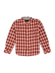 Boys brushed check shirt