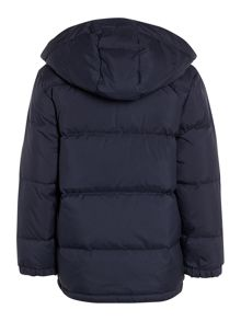 Boys showerproof padded jacket with hood