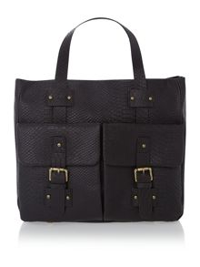 Stowe black snake tote bag