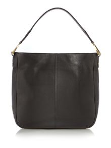 Newlyn black pocket hobo bag