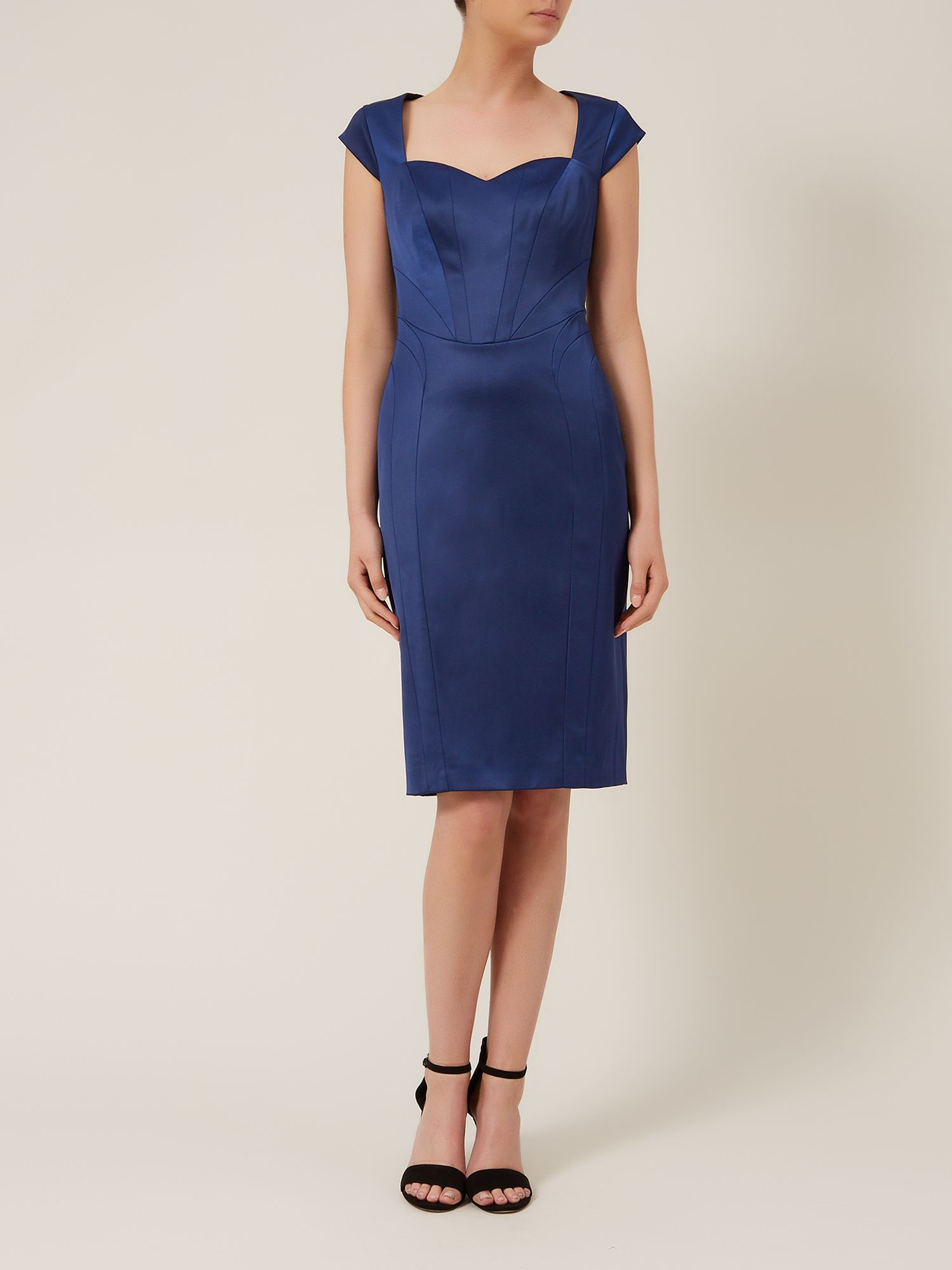 Cap sleeve ergonomic dress