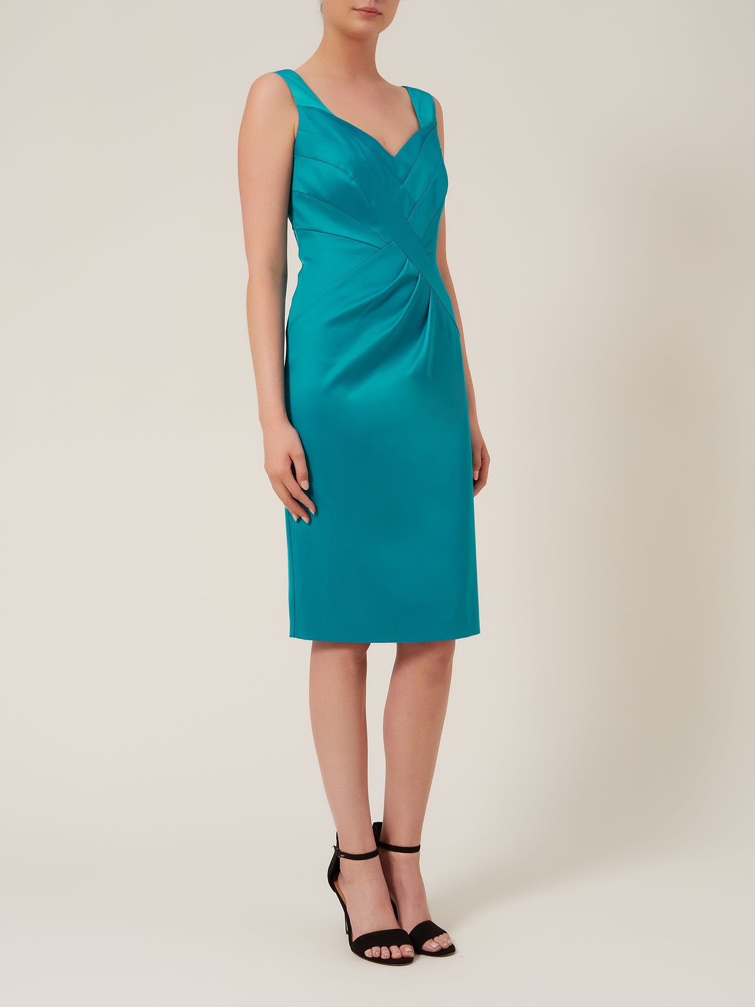 Sateen panel dress