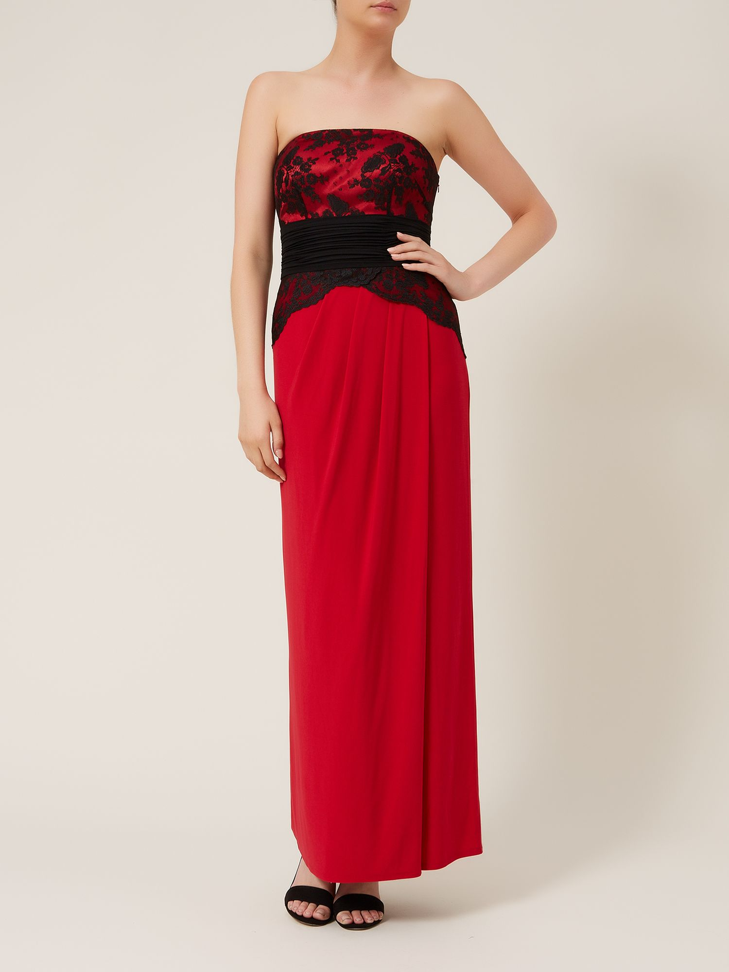 Bustier band maxi dress