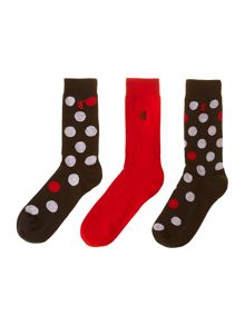 3 pack big spot socks
