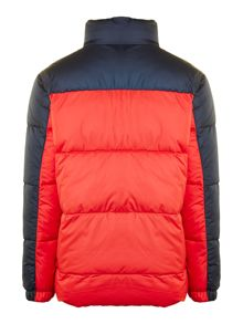 Boys showerproof colour block jacket