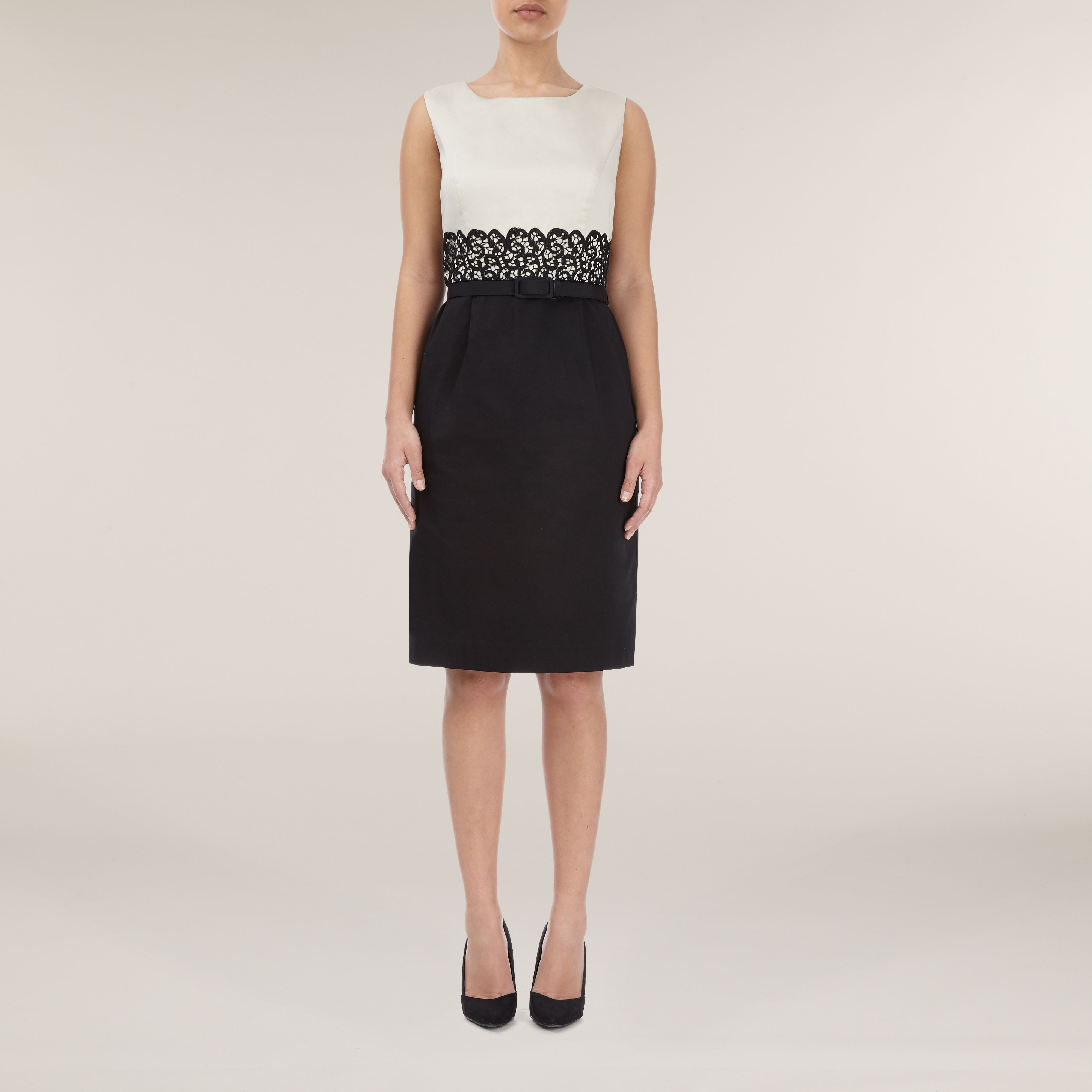 Black oyster shift dress