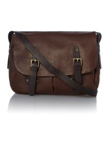 Polperro tan flap over satchel