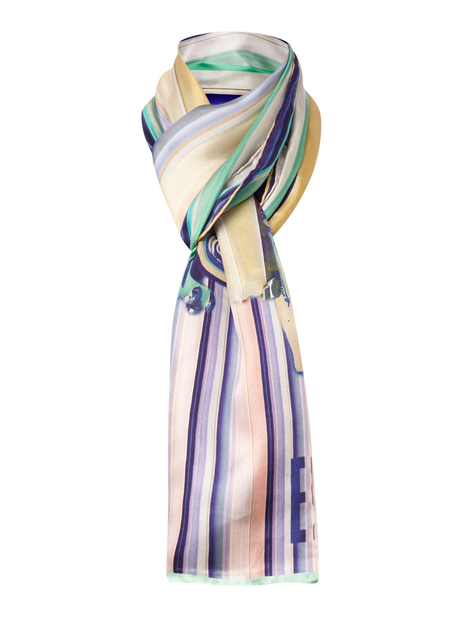 Keep on rolling silk long scarf