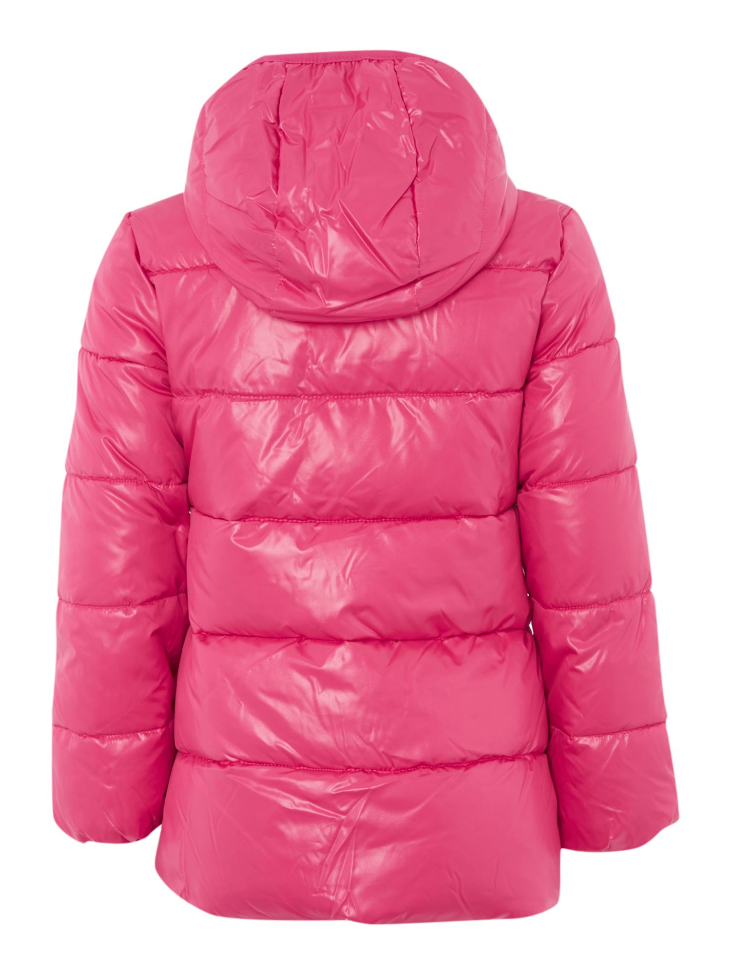 Girls padded jacket with contrast colour lining